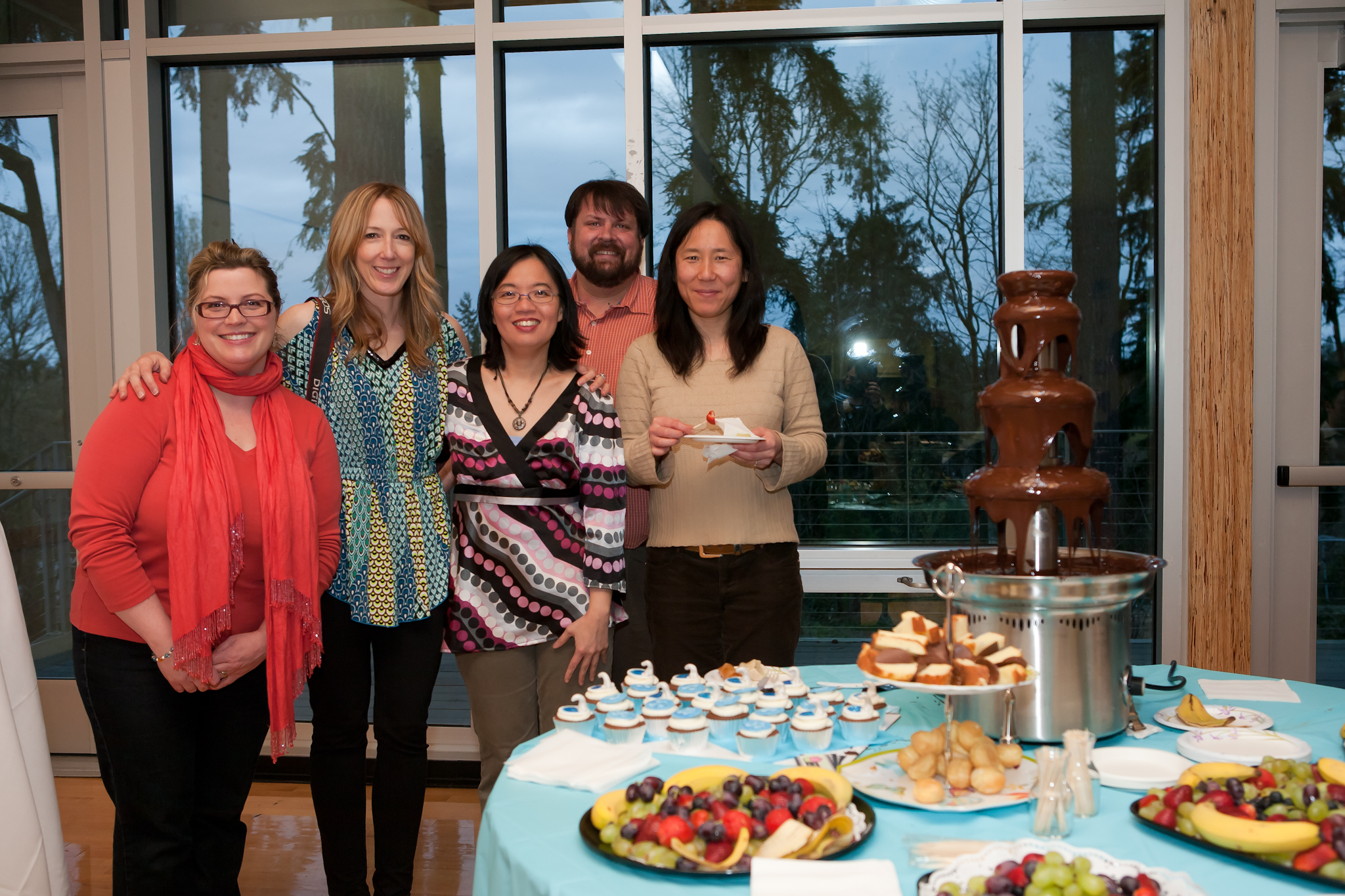 Some of the Board members (from left) Aimee F.,  Michele T., Wendy W., Sean C. and Yuko C.
